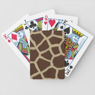 La colección de la piel - piel de la jirafa barajas de cartas