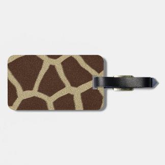 La colección de la piel - piel de la jirafa etiqueta de equipaje