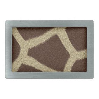 La colección de la piel - piel de la jirafa hebillas cinturon rectangulares