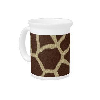 La colección de la piel - piel de la jirafa jarron