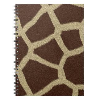 La colección de la piel - piel de la jirafa libreta espiral