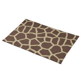 La colección de la piel - piel de la jirafa manteles individuales