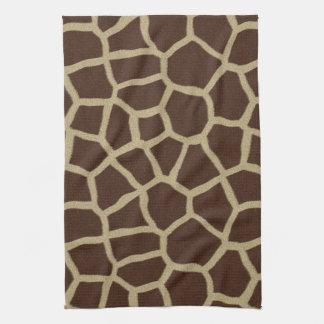 La colección de la piel - piel de la jirafa toalla de mano