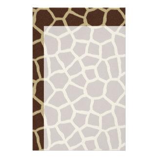 La colección de la piel - piel de la jirafa papeleria personalizada
