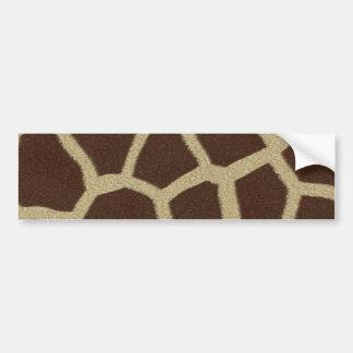 La colección de la piel - piel de la jirafa etiqueta de parachoque