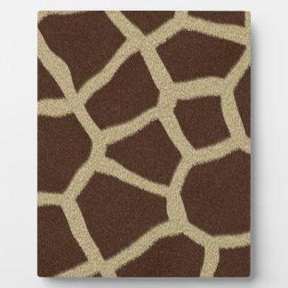 La colección de la piel - piel de la jirafa placa de madera