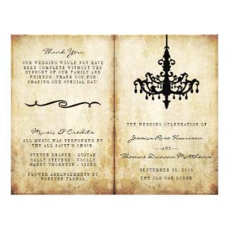 La colección del boda de la lámpara del vintage folleto 21,6 x 28 cm