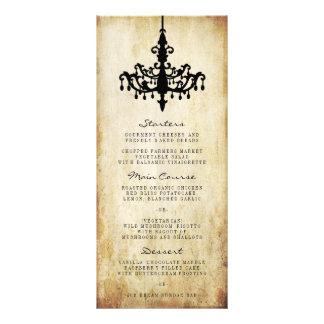 La colección del boda de la lámpara del vintage tarjeta publicitaria a todo color