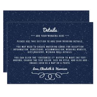 La colección del boda de la noche estrellada - invitación 11,4 x 15,8 cm