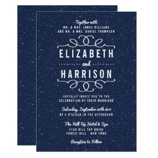 La colección del boda de la noche estrellada invitación 12,7 x 17,8 cm