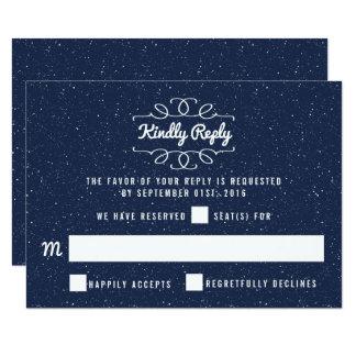 La colección del boda de la noche estrellada - invitación 8,9 x 12,7 cm