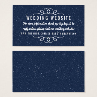 La colección del boda de la noche estrellada - Web Tarjeta De Visita