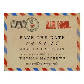 La colección del boda del correo aéreo del vintage postal