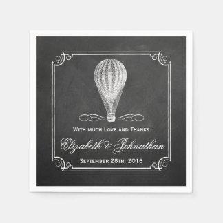 La colección del boda del globo del aire caliente servilleta de papel