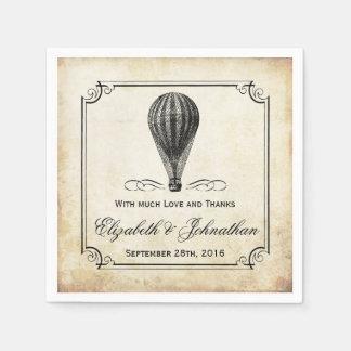 La colección del boda del globo del aire caliente servilletas de papel