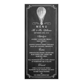 La colección del boda del globo del aire caliente tarjeta publicitaria