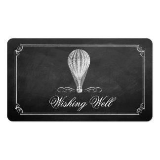 La colección del boda del globo del aire caliente tarjetas de visita