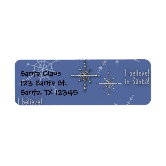 La colección del navidad cree Santa Etiqueta De Remitente