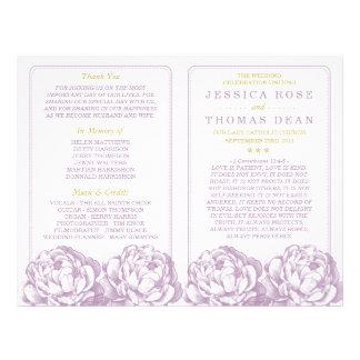 La colección floral del boda del Peony bonito Folleto 21,6 X 28 Cm