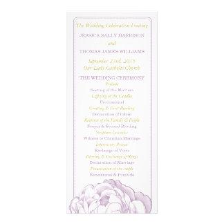 La colección floral del boda del Peony bonito Folleto Publicitario 10 X 22,8 Cm