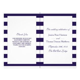 La colección moderna del boda de la raya de la folleto 21,6 x 28 cm