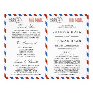 La colección moderna del boda del correo aéreo folleto 21,6 x 28 cm