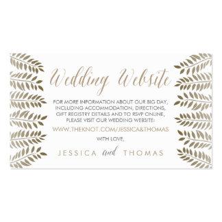 La colección monocromática del boda del arbolado tarjetas de visita
