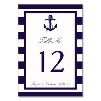 Tarjetas con el número de mesa para el banquete de tu boda en Zazzle