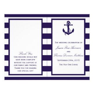 La colección náutica del boda de la raya de la folleto 21,6 x 28 cm