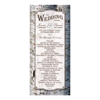 La colección rústica del boda del árbol de abedul diseño de tarjeta publicitaria