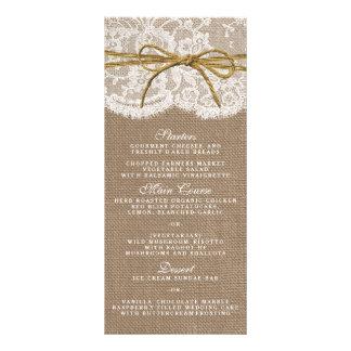 La colección rústica del boda del arco de la guita folleto publicitario 10 x 22,8 cm