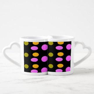 La colección soñolienta del terciopelo set de tazas de café