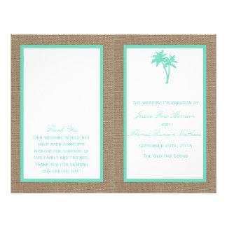 La colección tropical del boda de playa de la folleto 21,6 x 28 cm