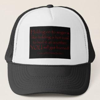 La cólera es una camiseta caliente del carbón gorra de camionero