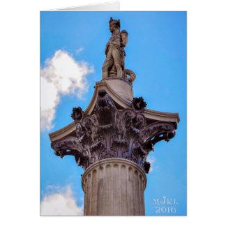 La columna de Nelson, tarjeta de Londres