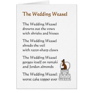 La comadreja del boda - un poema divertido del tarjeta de felicitación