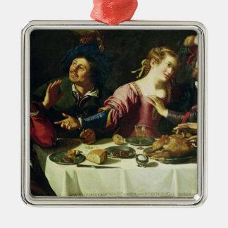 La comida ornamentos de navidad