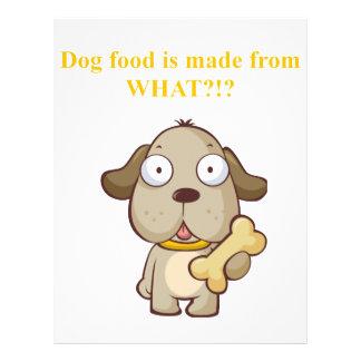 ¡La comida de perro divertida se hace de lo que?! Flyer A Todo Color