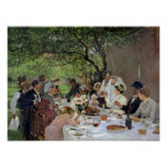 La comida del boda en Yport, 1886 Póster