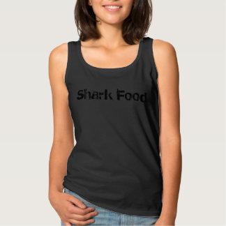 La comida del tiburón de la camiseta de la persona
