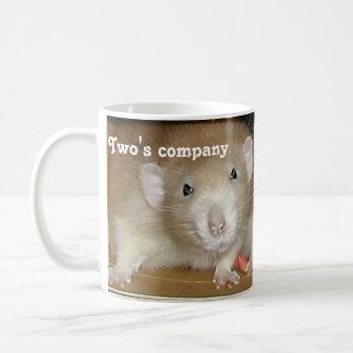 ¡La compañía de dos, una calabaza de tres! Taza De Café
