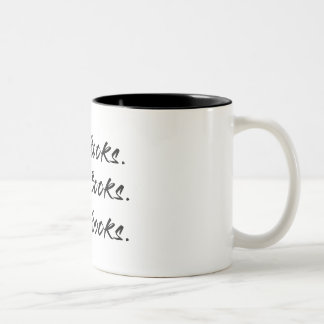 La compra, escribe, leyó la taza