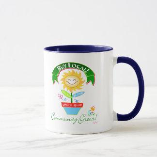 La comunidad local de la compra crece la taza