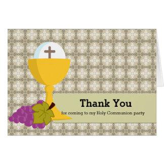 La comunión santa le agradece tarjeta de felicitación