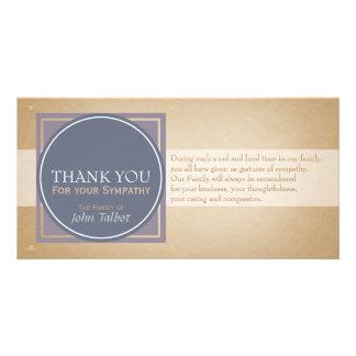 La condolencia cuadrada azul de las etiquetas del tarjetas fotograficas personalizadas