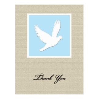 La condolencia de la paloma le agradece postal