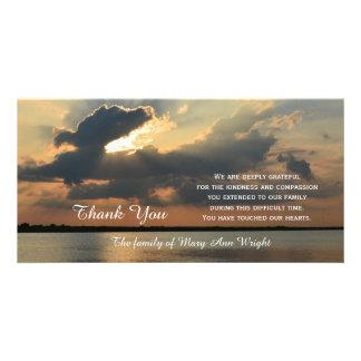La condolencia de la puesta del sol le agradece tarjetas fotograficas