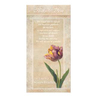 La condolencia de los tulipanes del cordón del tarjetas fotográficas personalizadas