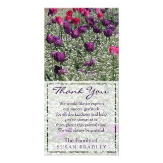 La condolencia del campo de los tulipanes le tarjetas personales