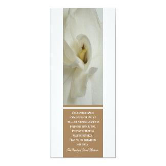 La condolencia del Gardenia le agradece tarjeta de Invitación 10,1 X 23,5 Cm